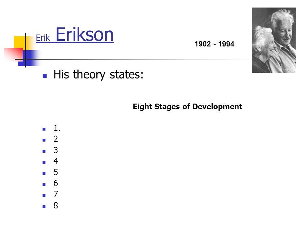 erik eriksons eight developmental stages