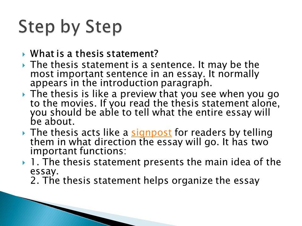 Thesis Statement Essays