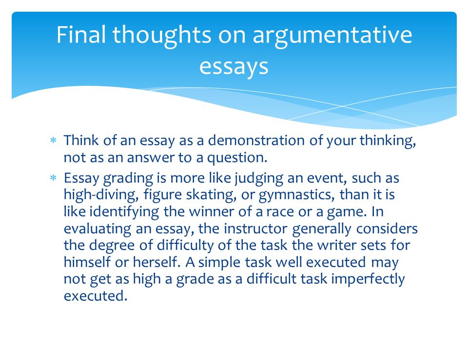 narrative and argumentative essays