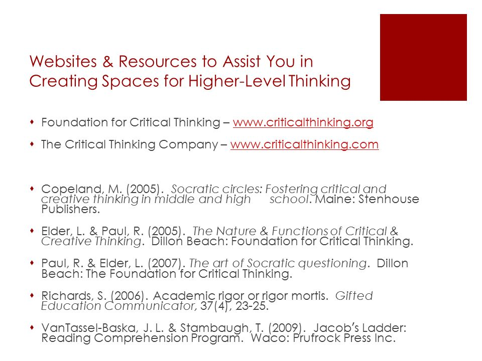 foundation for critical and creative thinking
