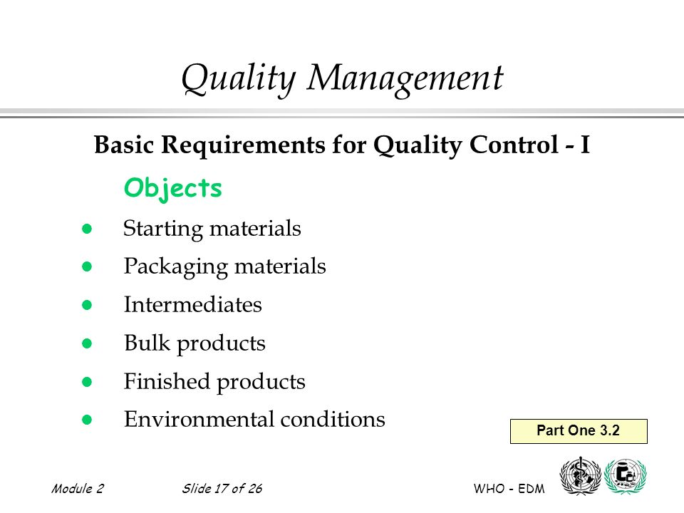 Module 2slide 1 of 26 who edm quality management basic 17 module sciox Gallery
