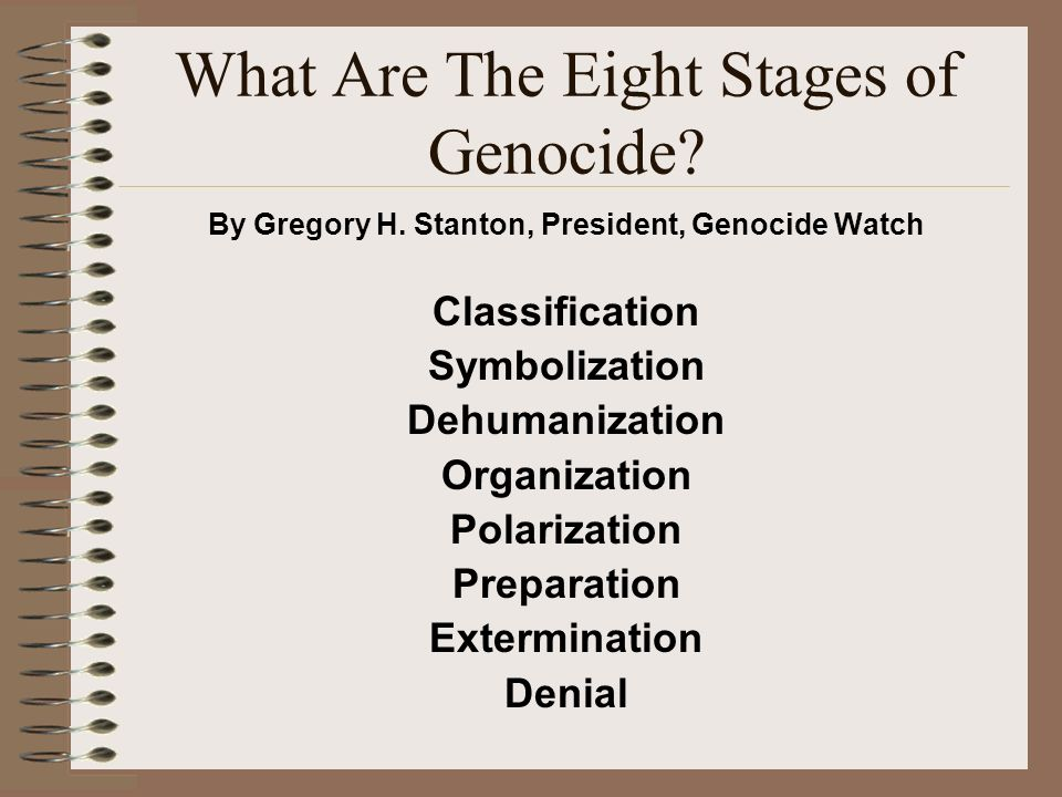 Genocide What is it? What are the eight stages of genocide? Mrs ...