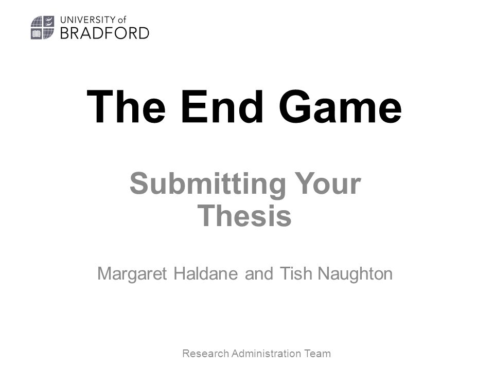 Thesis Submission Sdstate