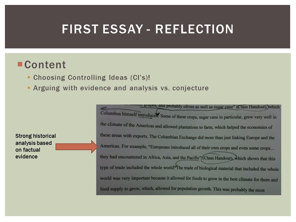 one page reflective essay