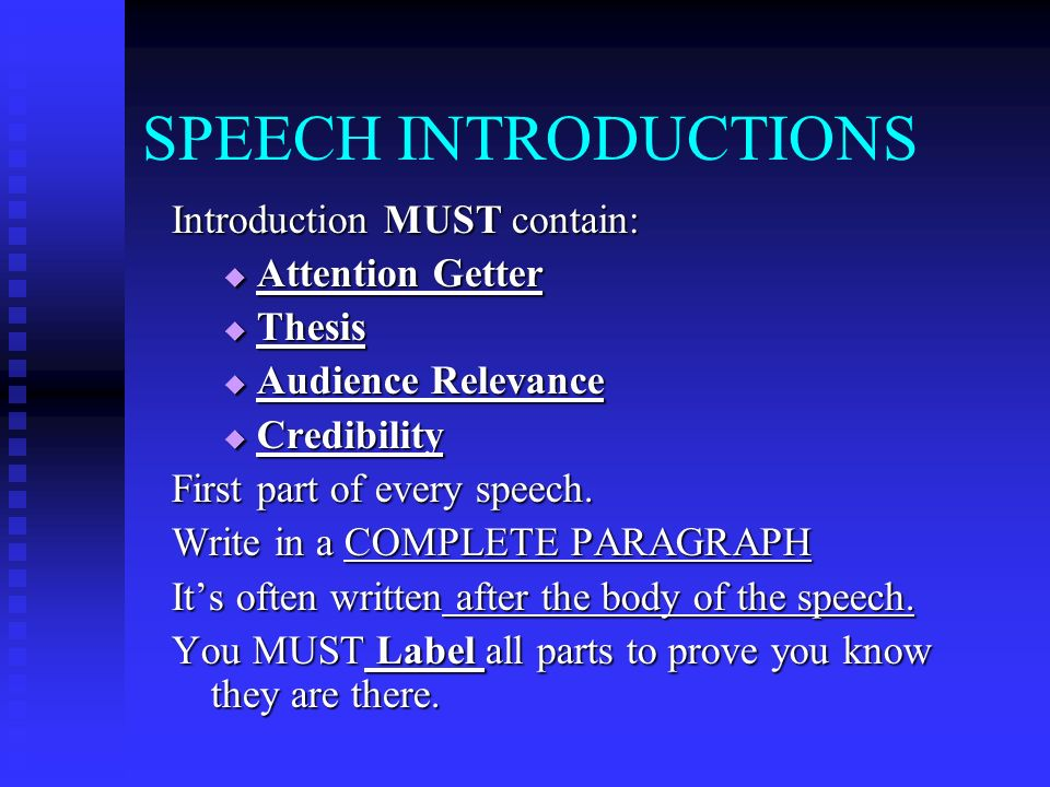 What is a good attention getter for an introduction?