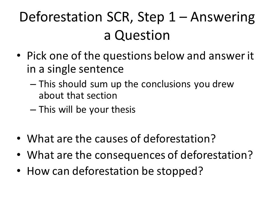 conclusion about deforestation Deforestation is the permanent devastation of native forests and woods deforestation happens in many ways: when trees are cut down to grow crops, for livestock, logging so wood can be used for building things like houses and furniture, for roads and neighborhoods, for firewood, and forest fires.