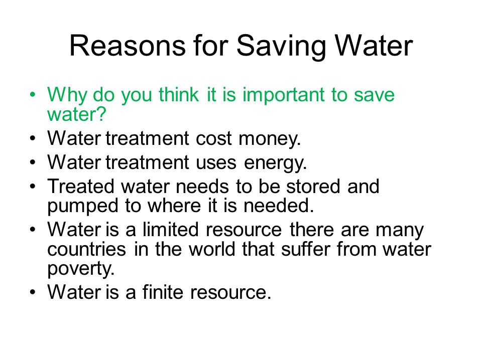three reasons why water is important