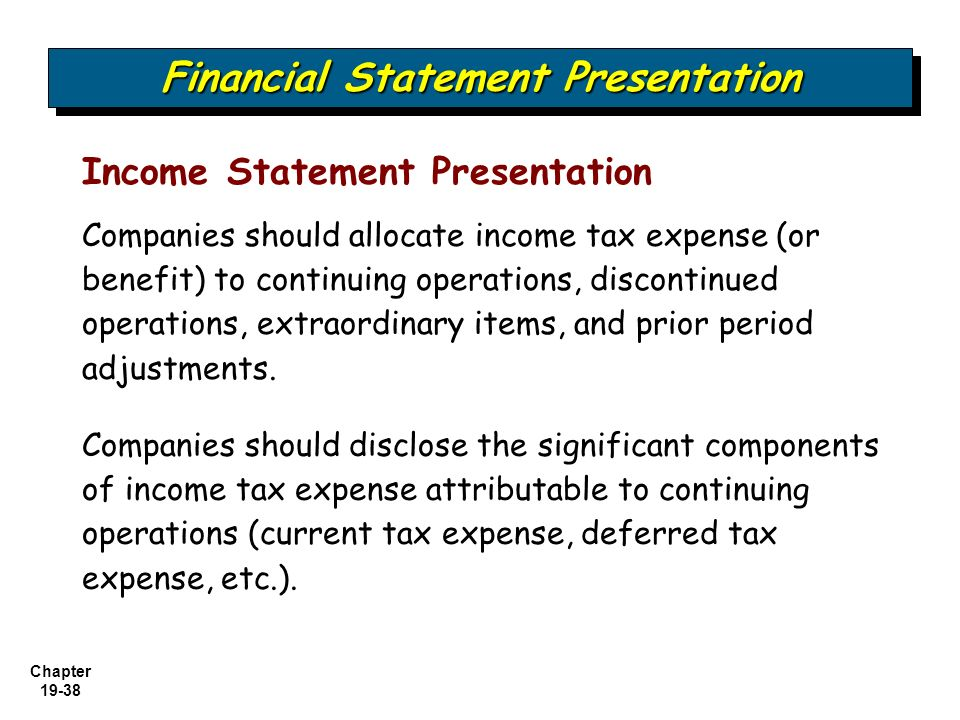 component of financial statement