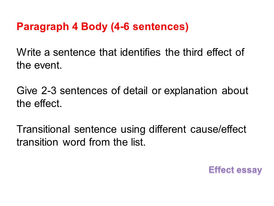 Transition Sentences Examples For Essays