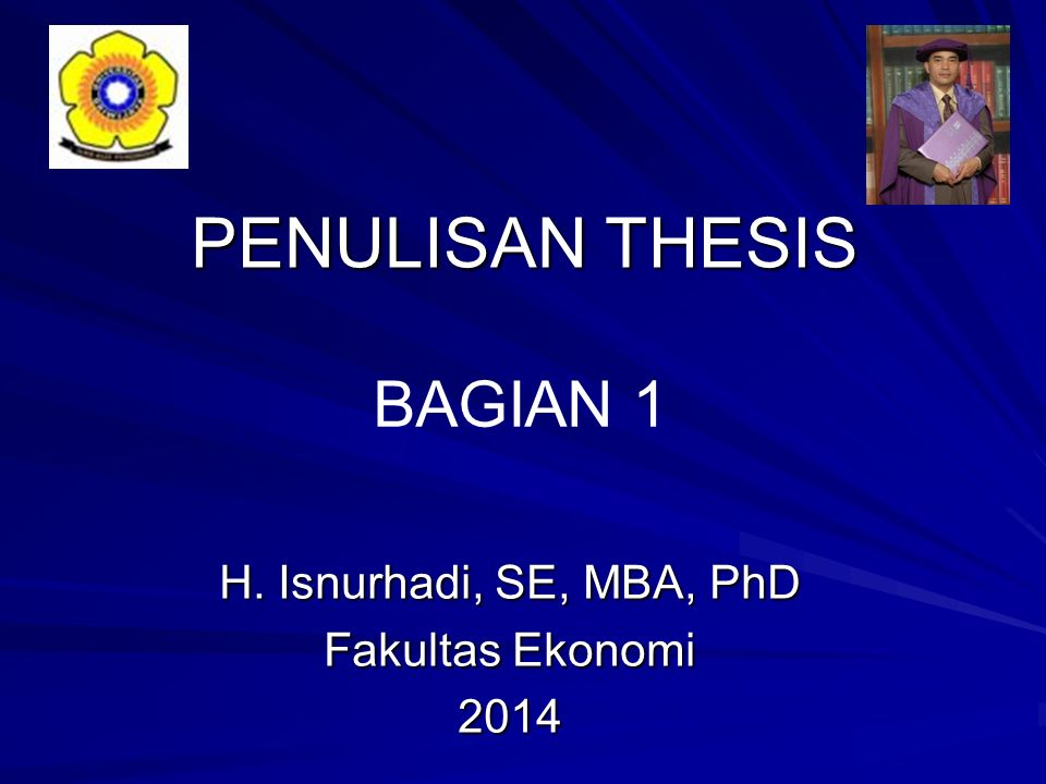 penulisan thesis