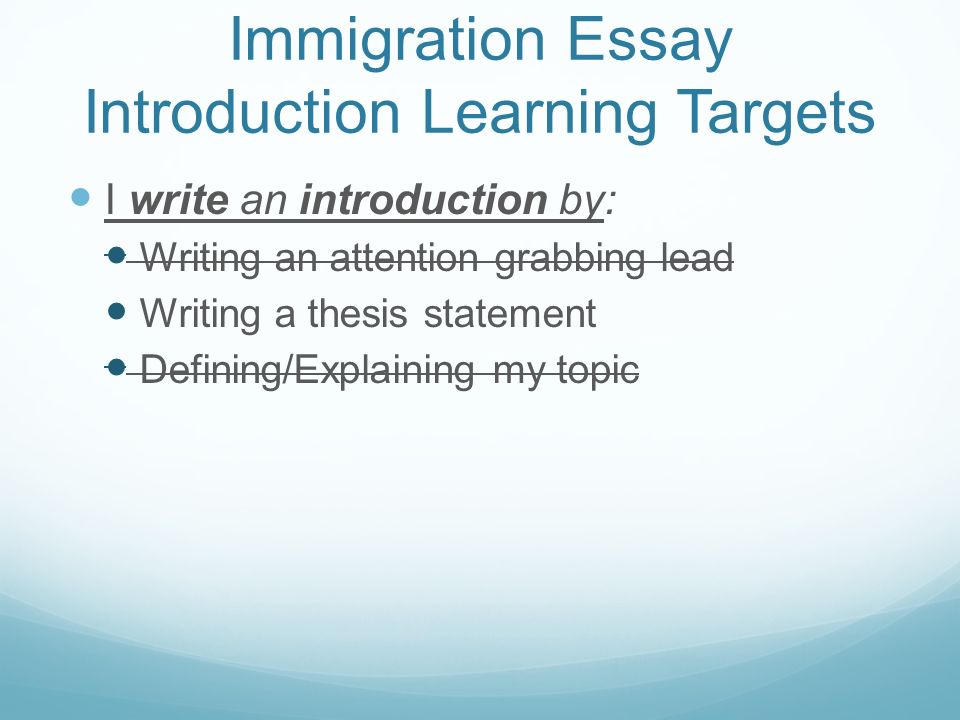 a good thesis statement about immigration