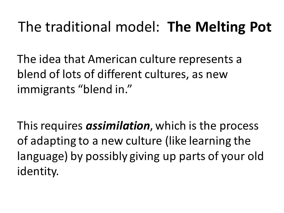 american immigrants struggle with assimilation American culture surely you can't mean american culture, because african americans are responsible for much of american culture – and much of america period so what you're referring to is the white status quo, or historically, privileged america.