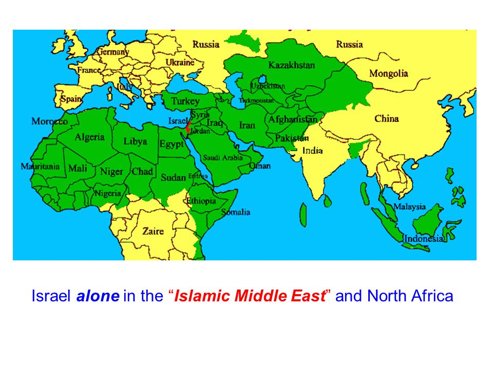 Israel alone in the Islamic Middle East and North Africa