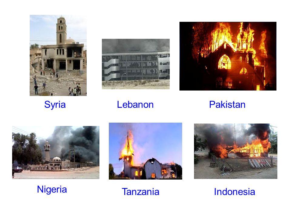SyriaLebanonPakistan Nigeria TanzaniaIndonesia