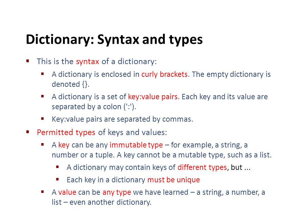 python dictionary values