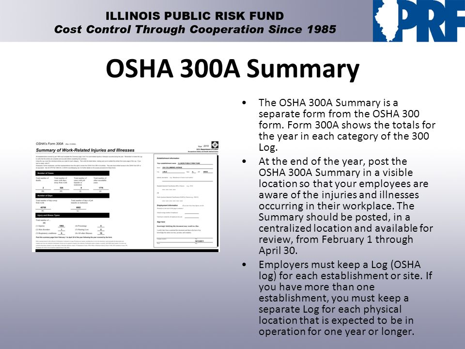 How To Generate Injury And Illness Illinois-Osha Recordkeeping