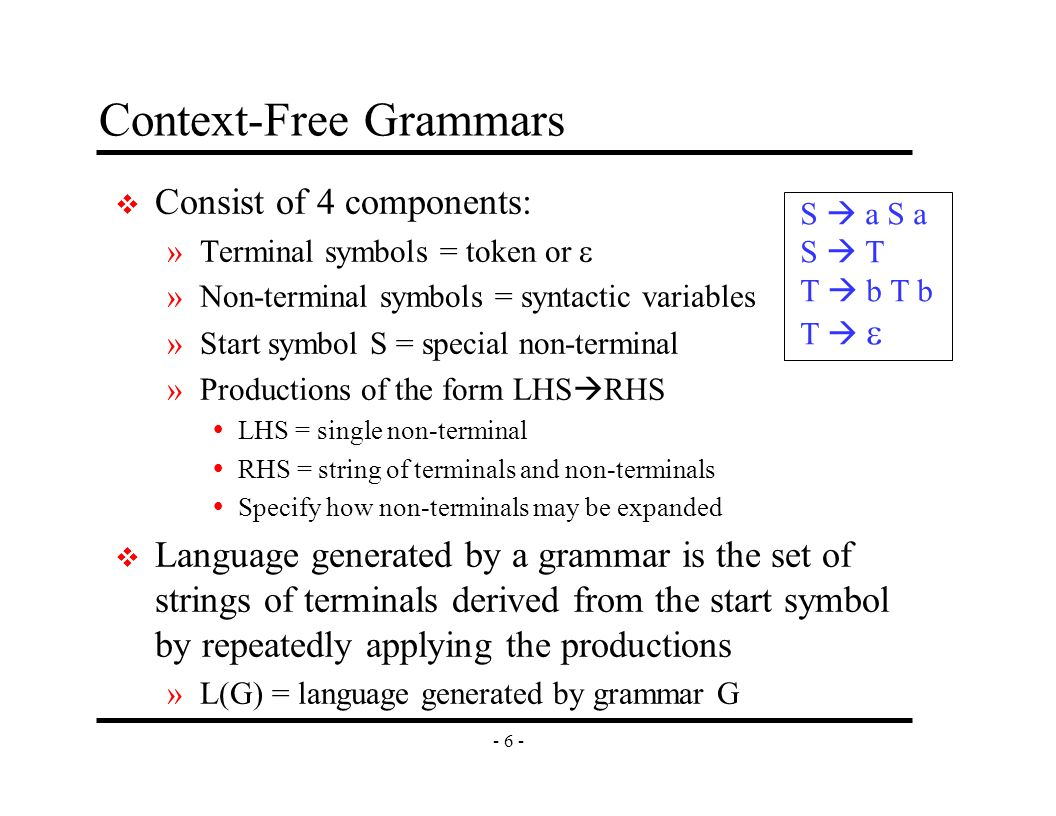 Syntax analysis part i eecs 483 lecture 4 university of 7 6 biocorpaavc