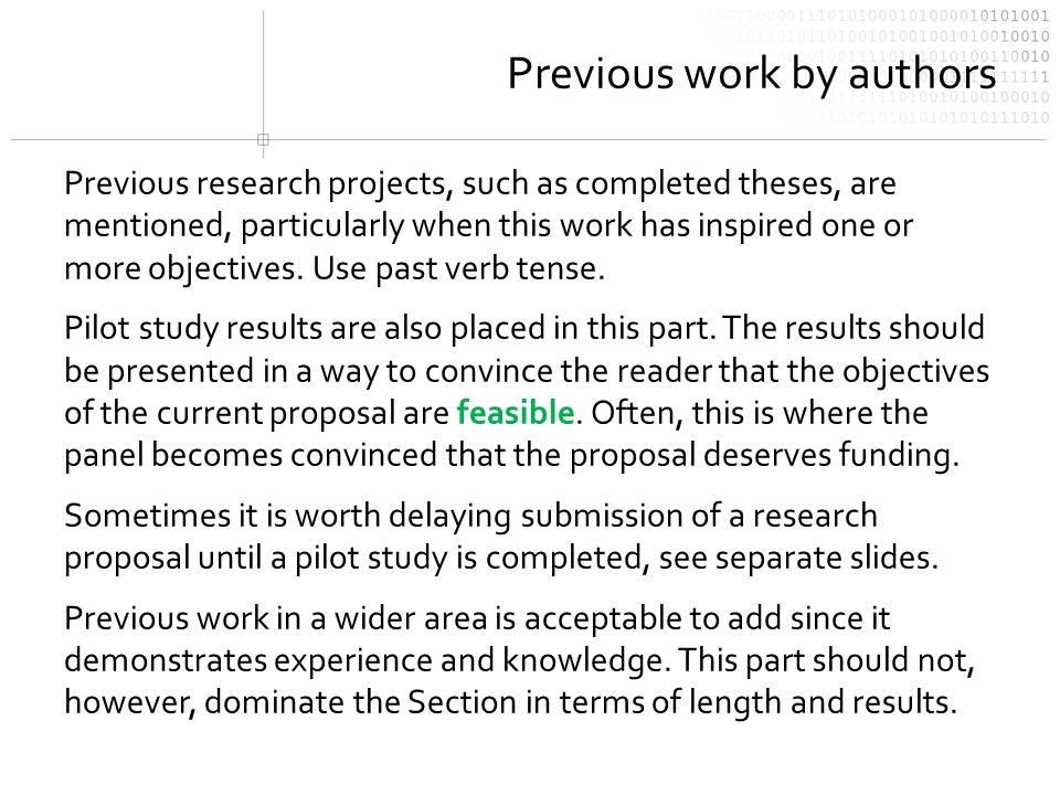 Dissertation proposal length verb tense