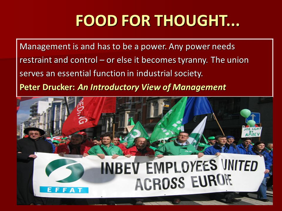 Efficiency and employment labour relations introduction an introductory view of management food for thought food for thought management is and has sciox Choice Image