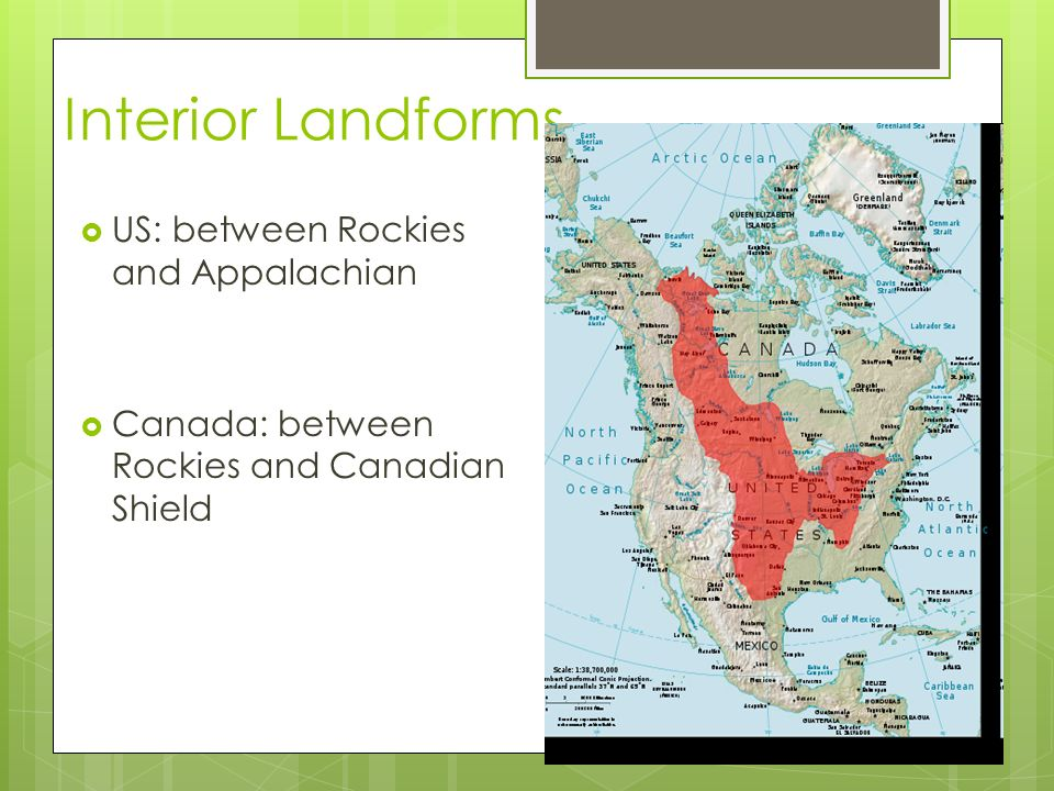 Physical Geography Of The US Canada Chapter Section Ppt Download - Appalachian and rockies on us map
