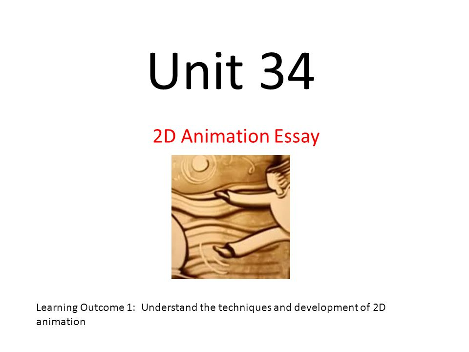 2d animation essay