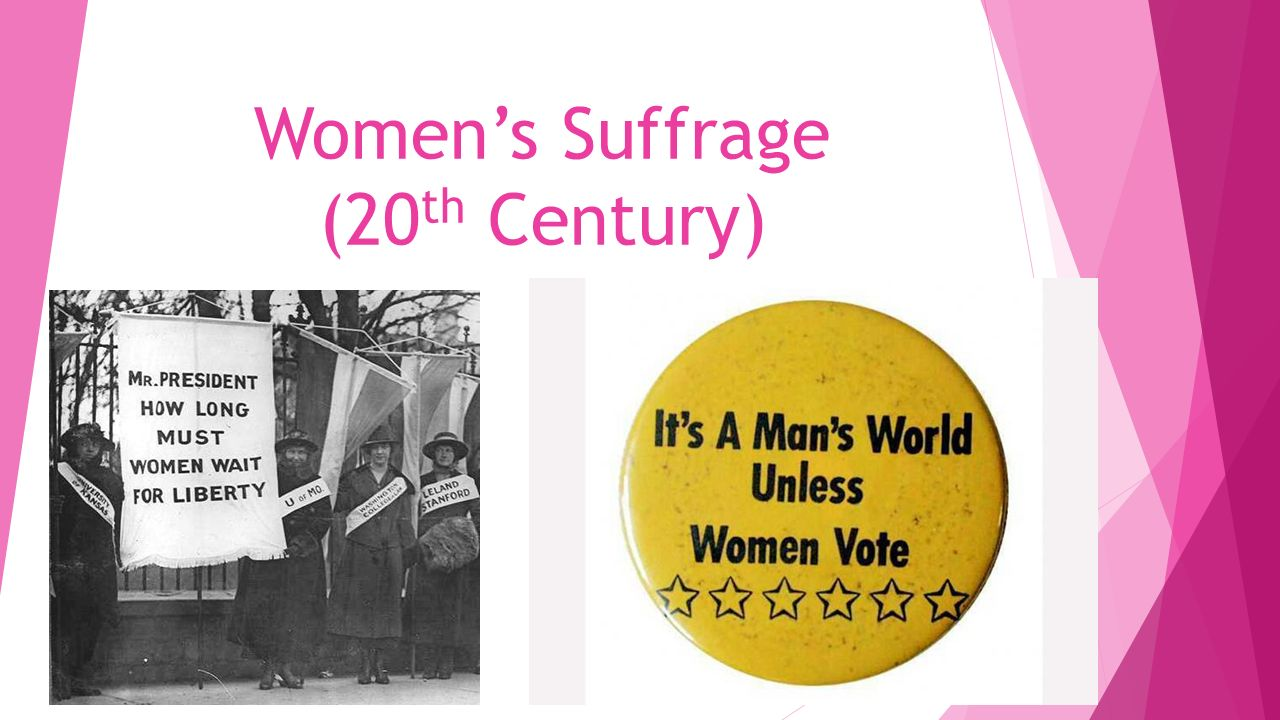women s suffrage th century just the facts suffragists 1 women s suffrage 20 th century