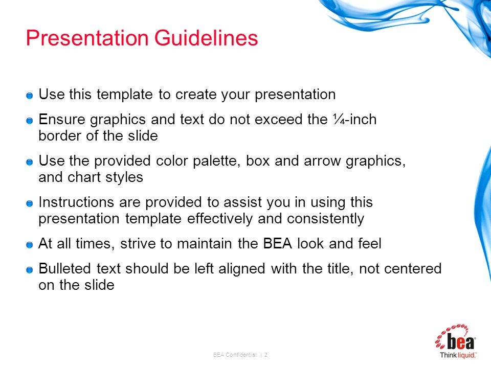 title slide 32 pt. arial font up to 3 lines in length name, date, Presentation templates