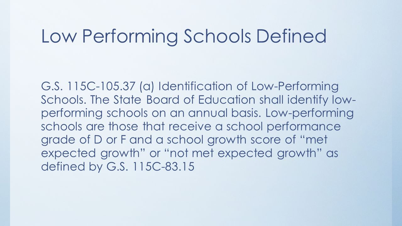 2 Low Performing ...