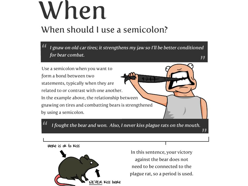 When should I use a semi-colon and when should I use a colon?