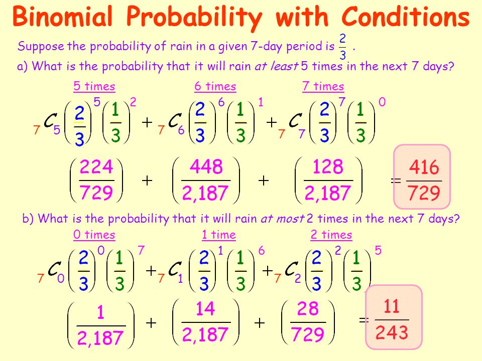 Binomial Probability A Binomial Probability experiment has the – Binomial Probability Worksheet