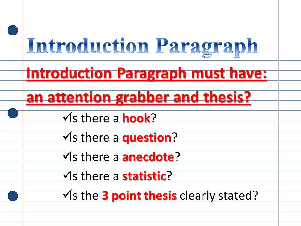 Hook Sentences For Essays