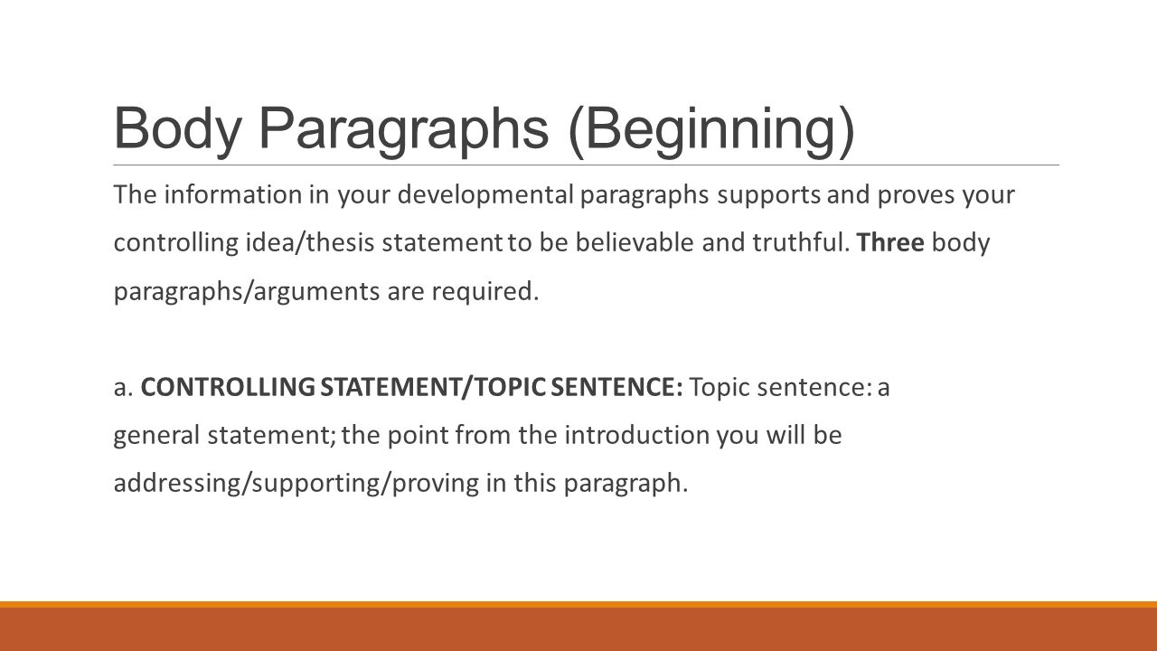 thesis beginning of paragraph Narrative essay the purpose of a quote or a description used to capture the reader's attention in the first paragraph the thesis statement for a narrative.