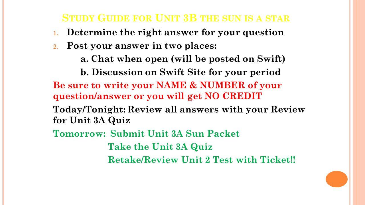 T HE SUN AND STARS UNIT 3 The Sun is a Star Unit 3A Starlight ...
