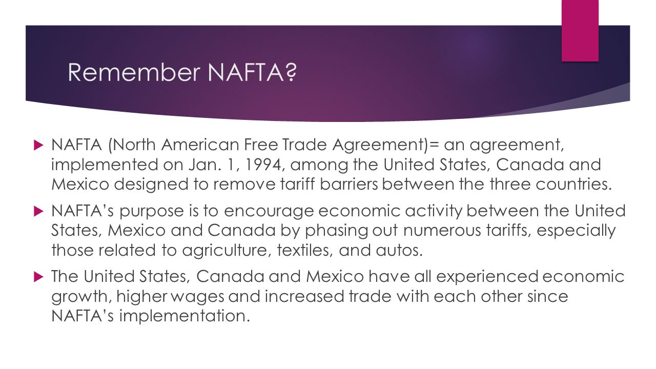 we will be able to compare and contrast the nafta north american trade agreement an agreement
