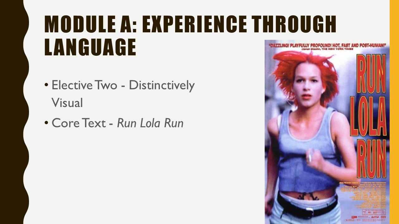 essay on run lola run Run lola run is the most famous and fashionable german film of the previous decade, which became a hit on both sides of the atlantic(ludewig, 2006) the film.
