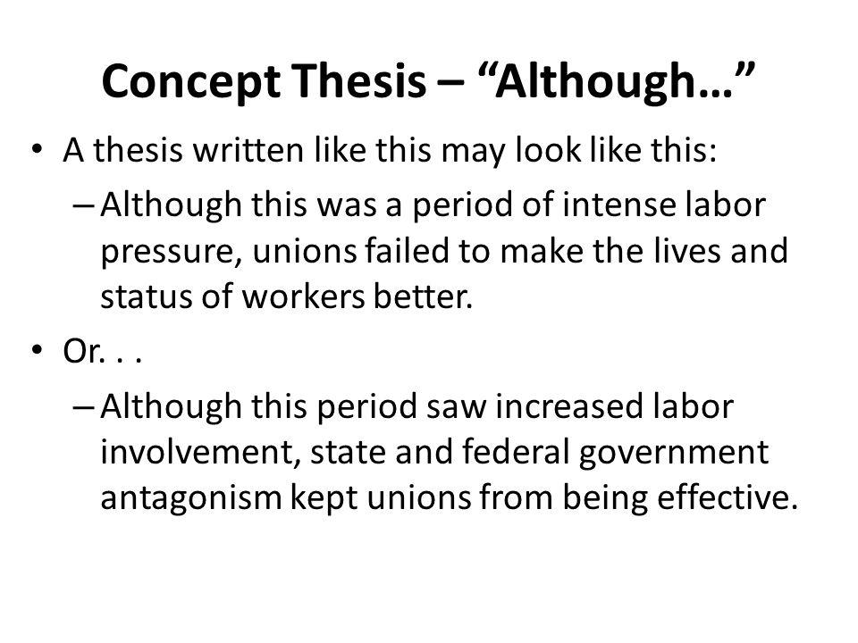 write conceptual thesis