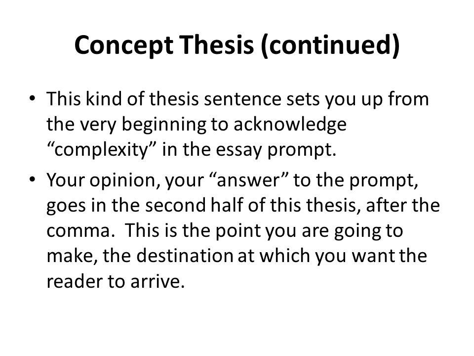 conceptual essay thesies sentence