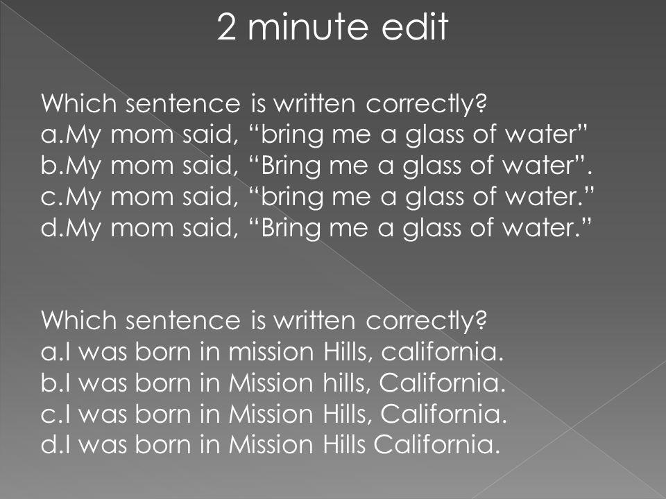 Edit my sentence