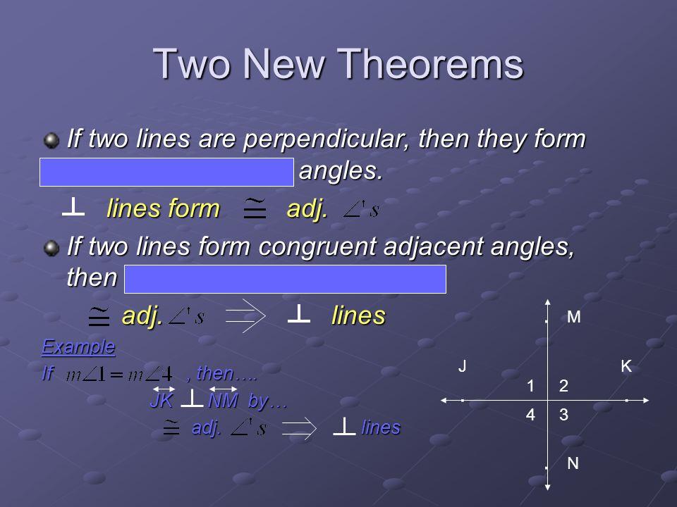 Geometry 2.5 Perpendicular Lines. Perpendicular Lines Definition ...