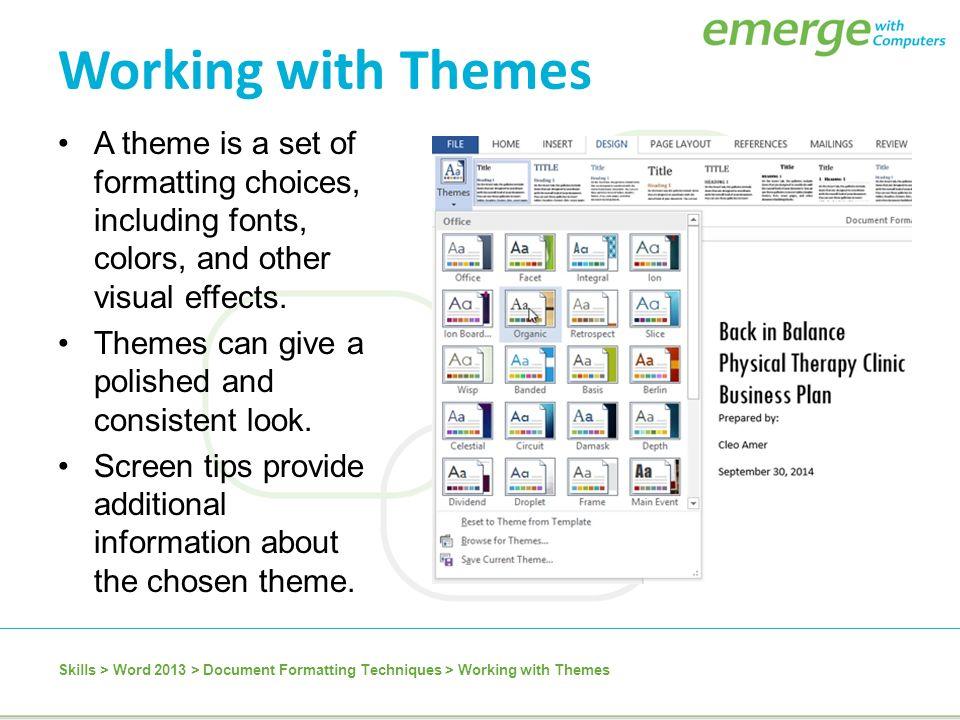 frame theme microsoft word 2013