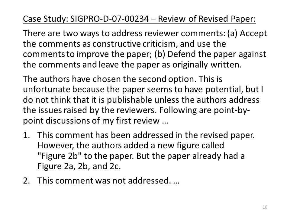 Reviewer comments