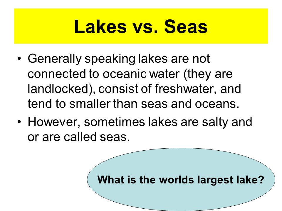 Difference Between Lake and Sea | title | lake vs sea