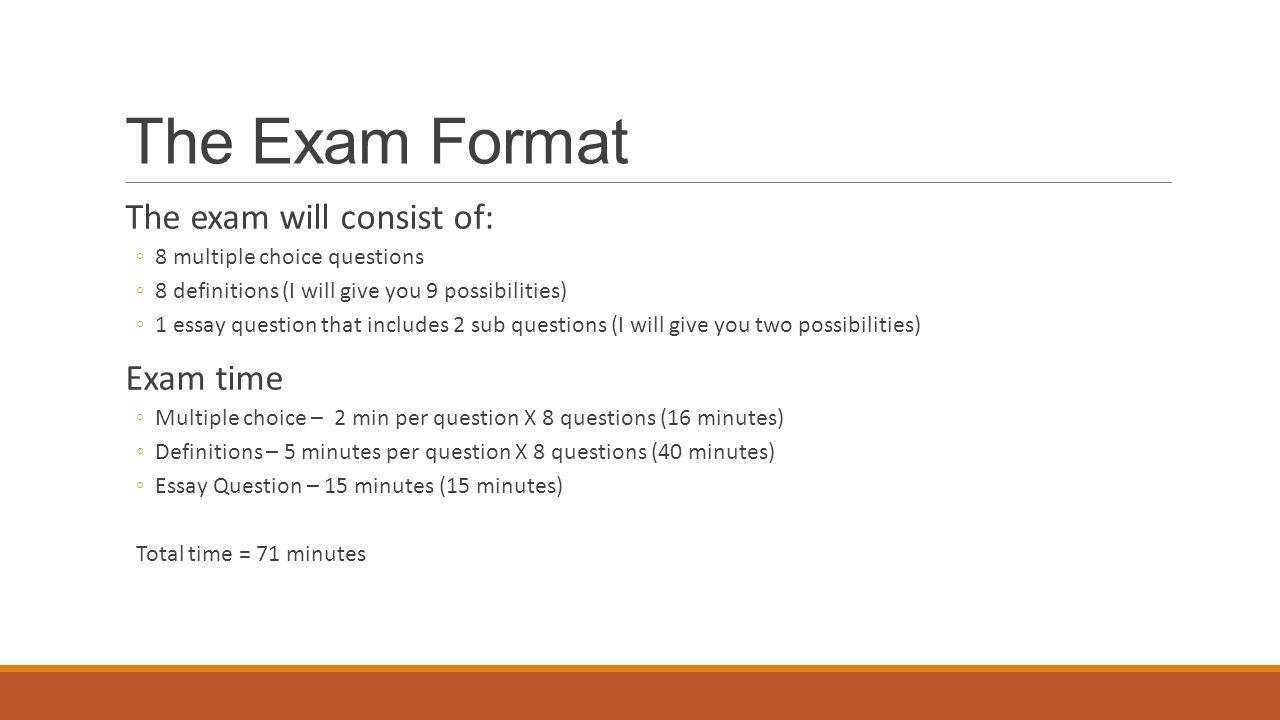 essay question format template