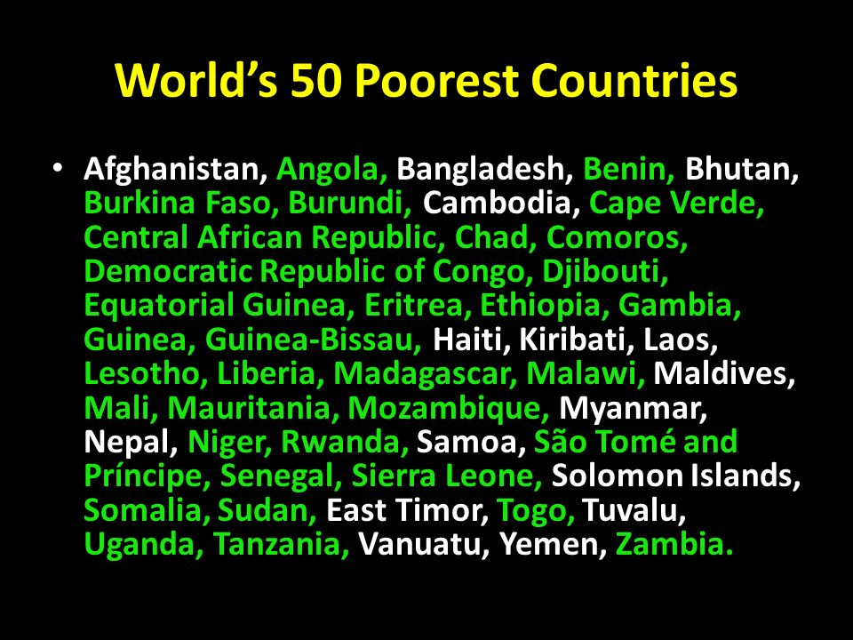 Divided World Country Continent Group Of Divided Number Of - Top 50 poorest countries in the world