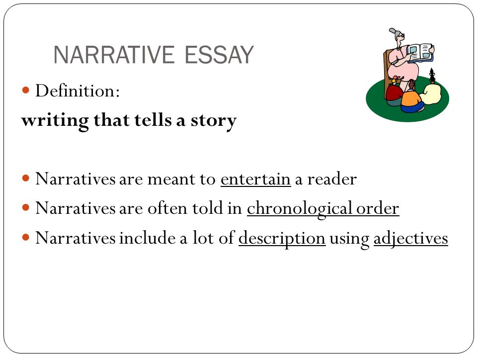 help in writing a narrative essay