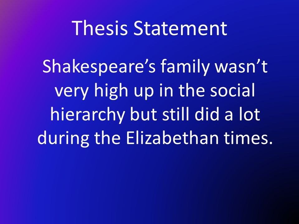 senior thesis shakespeare The senior corp is an affordable three-week summer acting intensive for teens who are serious about growing as the session culminates in a final saturday presentation of shakespearean text.