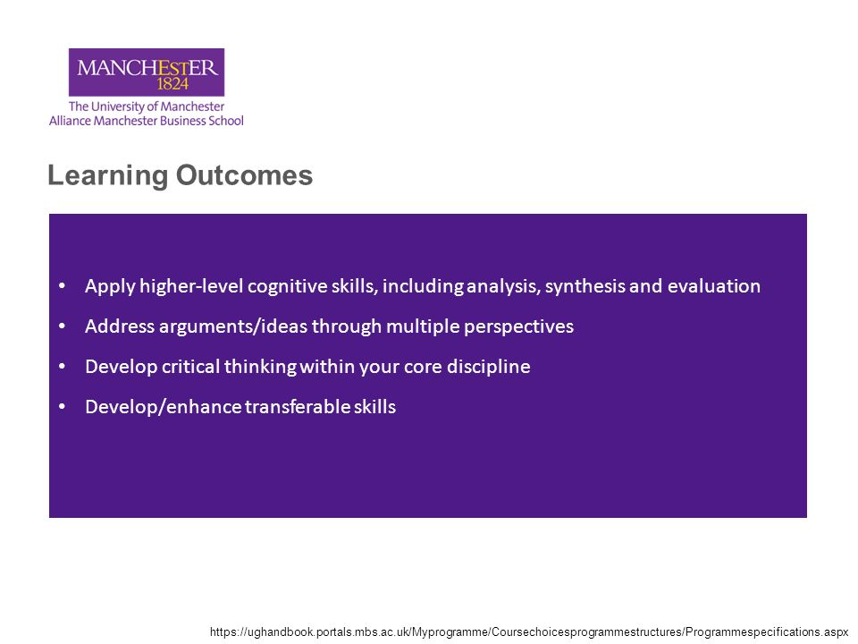 cognitive skills critical thinking analysis and synthesis