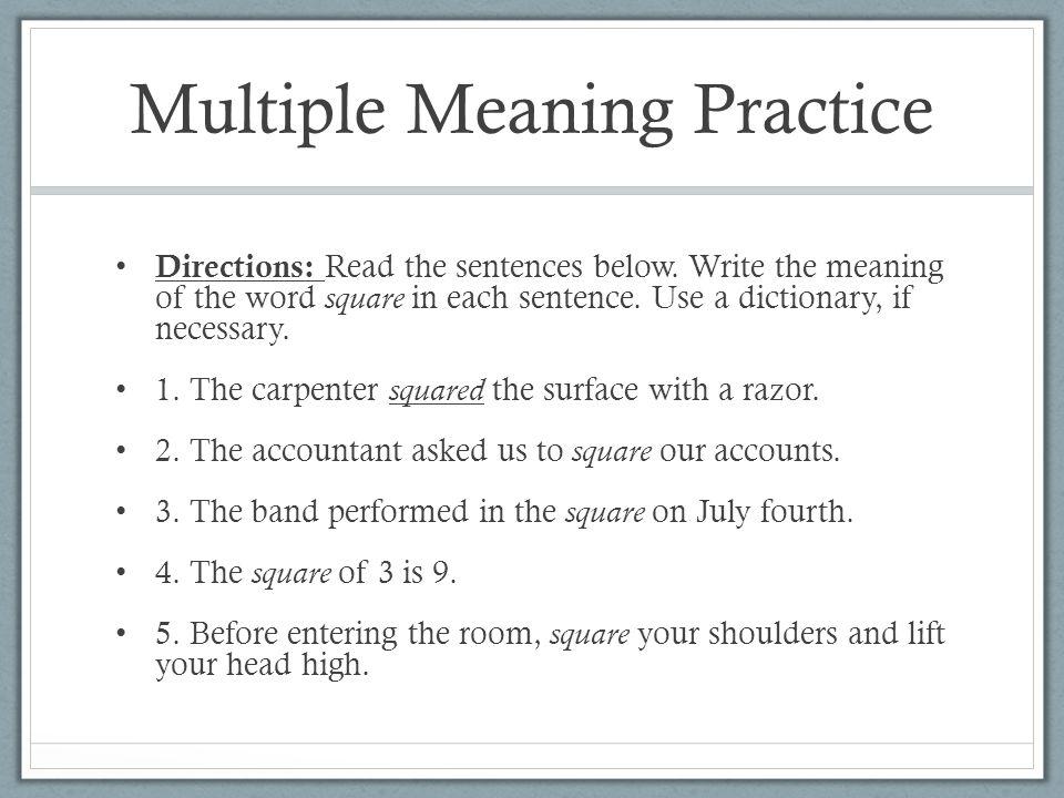 Multiple sentence