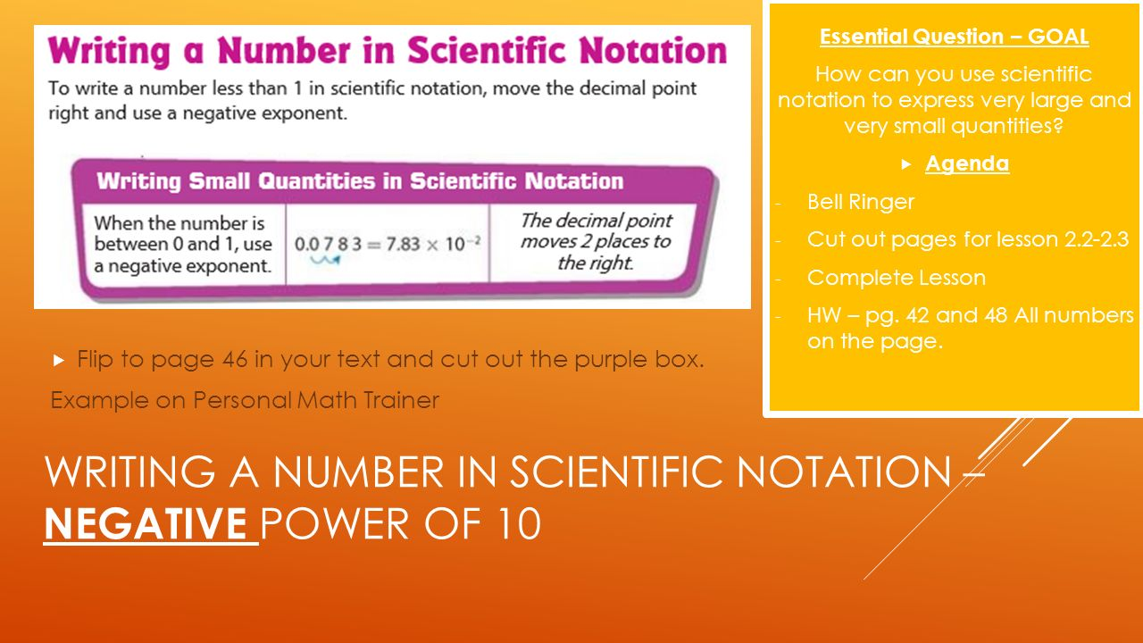 writing numbers in scientific notation Scientific notation (also referred to as scientific form or standard index form, or standard form in the uk) is a way of expressing numbers that are too big or too.