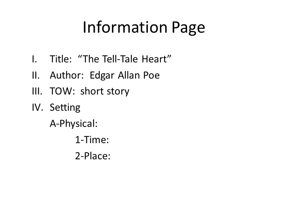 symbolism in the tell tale heart Summary: the tell tale heart the tell tale heart by edgar allan poe is one of the most compelling short stories which takes the reader into the mind of the mentally insane.
